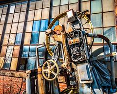 Industrial Revolution (Sky Noir) Tags: old windows wheel rusty warehouse machinery crusty patina