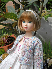 doris enjoys the morning sun (maggimini) Tags: fashion miniature handmade crochet momoko lacymodernist
