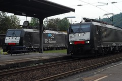 ERS EuroSprinters, Bacharach (Forest Pines) Tags: railroad station train germany deutschland eisenbahn railway bahnhof deutschebahn bahn rheinland rhineland freight rheinlandpfalz freighttrain bacharach gterzug rhinelandpalatinate br189 eurosprinter baureihe189 es64 linkerheinstreckeersrailways