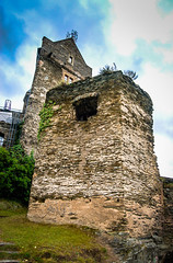 Rheinfels Fortress on the Rhine River in Germany (mbell1975) Tags: mist tower castle rain river germany deutschland ruins europe day cloudy fort ruin rainy german valley schloss turm rhine fortress rhein burg deutsch festung rheinfels