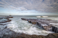 Mind your step (Nick Twyford) Tags: longexposure newzealand clouds nikon rocks surf waves wideangle auckland nz northisland westcoast muriwai earlymorninglight colourimage leefilters 1024mm d7000 lee09nd lee06gndsoft