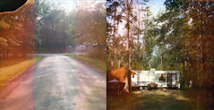 * (Lisa Toboz) Tags: road ohio summer polaroid diptych andover 600 trailer expired slr680 instantfilm holidaycampground