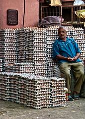 Marrakech, Egg seller in local market (Saleha Ullah) Tags: man fresheggs market moroccan marrakesh eggs morocco