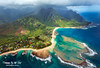 Tunnels Beach and the Na Pali Coast Kauai Hawaii (Kiall Frost) Tags: red color colour green beach water coral clouds hawaii sand surf air flight helicopter kauai volcanoes tunnels reef napali napalicoast kiallfrost
