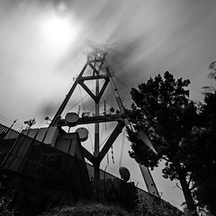 Sutro Tower combs through Karl the fog (morozgrafix) Tags: longexposure blackandwhite bw fog sutro sutrotower weldingglass sigma1020mmf456 nikond7000 spaceclaw karlthefog