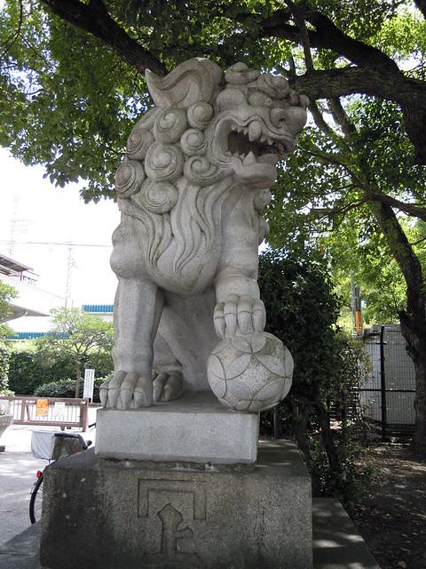 住吉公園の狛犬さん|