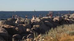 "Scaniabadet & ""Malm Redd"" Lighthouse (brandsvig) Tags: summer lighthouse skne sweden july m42 mf sverige malm fyr ussr sommar helios 258 resund vstrahamnen canon500d 2013 helios442 lommabukten scaniabadet malmredd"