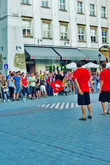 Krakow (Tatu234) Tags: street city summer beautiful lens dance sony performance poland krakow flip 1855mm 1855 slt backflip a55 2013 sonyslta55 slta55