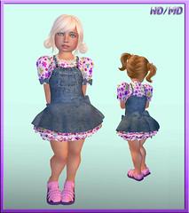 ND/MD Cuties Playground Dress (Alea Lamont) Tags: girl playground hair children kid clothing toddler skins child dress mesh sandals shapes avatars jeans dresses cuties bodies lovesoul ndmd elikatira