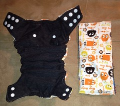 Ooga Booga Fitted Diaper with Snap-In Soaker (ckramer528) Tags: diaper cotton snaps flannel oogabooga clothdiaper upcycle snapinsoaker