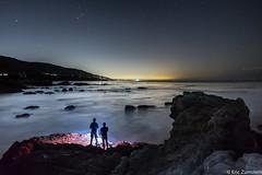 Leo Carrillo Beach  [Explored 10-6-13] (Eric Zumstein) Tags: ocean sea night canon stars rocks 6d landscapeedited leocarrillostatebeachnight