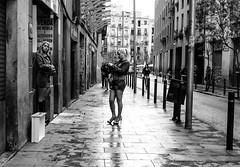 Barcelona-streets (perspektive68) Tags: barcelona street rain blackwhite women waiting prostitutes