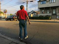 Man in Red Shirt (denizen8) Tags: street massachusetts pedestrian malden denizen8 201309131190a