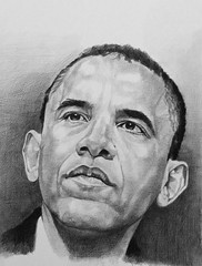 Obama (mark.algra) Tags: portret papier potlood getekend
