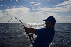 Fishing Sihouette (DGS Photography) Tags: ocean sea fish gulfofmexico silhouette fishing florida handsome rod strong sunlit destin soninlaw deepsea