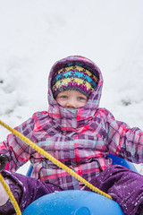 Sled Riding 2013-8 (TheDarrenSharp) Tags: winter evelyn 3yearsold sledriding