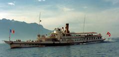 Paddle Steamer Rhone on Lake Geneva (trained_4_life) Tags: switzerland lakegeneva rhone paddlesteamer