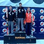 Panorama Keurig Cup Slalom, Men U18 Podium, 1. Huston Philp; 2. Jack Leitch; 3. Paul Cotton (VST)
