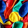Balloons (ScribeGirl) Tags: abstract colors balloons square 88 deflated 113picturesin2013