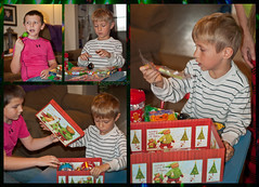 Bringing Wishes of Peace (IndyEnigma) Tags: christmas candy grandsons quadtych d80