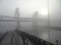 Morning sun (m.gifford) Tags: bridge vacation usa fog washington securitycamera washingtonstate