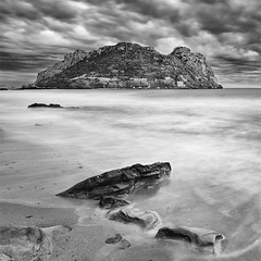 Reach out and Touch Faith (DavidFrutos) Tags: longexposure sunset sea bw costa seascape beach water monochrome rock clouds square landscape island atardecer monocromo coast mar agua rocks fineart playa paisaje bn minimal murcia filter le lee nubes minimalism minimalismo canondslr isla roca rocas 1x1 waterscape filtro largaexposicin filtros neutraldensity guilas canon1740mm gnd8 graduatedneutraldensity densidadneutra davidfrutos isladelfraile 5dmarkii niksilverefexpro singhraygnd09