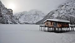 Yksinisyys (Claudia Gaiotto) Tags: winter lake snow fog solitude peace silence braies potd:country=it