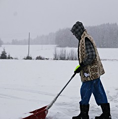 heavy snow (Anamaria Brigitte) Tags: winter snow cold season boots working cleaning gloves snowing heavy