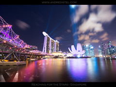 *Reaching for the Stars* - Singapore - Limited Edition Print (André Distel Photography) Tags: show city longexposure water clouds marina landscape bay singapore cityscape laser helix singapur cloudscape cloudporn fineartphotography d800 landscapephotography helixbridge landscapephotographer marinabaysands nikond800 luminositymasks andredistel andrédistel luminancemasks andredistelphotography wwwandredistelcom