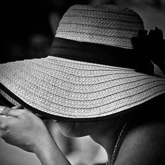 Hat (CorH) Tags: street portrait people urban white monochrome blackwhite belgium belgie streetphotography antwerp antwerpen straatfotografie corh