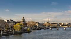 Paris (d:a) Tags: november autumn paris france tower europe eiffel latoureiffel institutdefrance laseine nikond90 nikkor18105mm