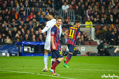Round of 16 Champions League. F.C. Barcelona Vs. Manchester City (Marc Puig i Prez) Tags: barcelona city camp manchester football leo soccer fc bara league nou champions fcb messi