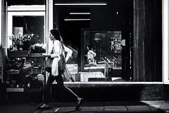 Lancaster, UK (ClanSurik) Tags: city shadow people urban reflection monochrome walking highcontrast blackandwhitestreetphotography hardshadows lancasterengland surikpictures clansurik nikond5300
