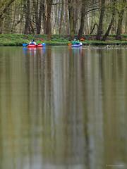 Kayaking at Jeziorka river (cissowski) Tags: rain river spring poland polska olympus e3 zuiko deszcz wiosna rzeka kayakingtrip konstancin jeziorka spywkajakowy zuikoom135mmf28 cissowski zalesiedolne