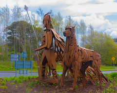 Fionn Mac Cumhaill and his hounds (Ronan McCormick) Tags: ireland sculpture motorway roundabout hound folklore publicart newbridge bran m7 kildare junction12 maccool finnmccool thecurragh fionnmaccumhaill fionnmccool sceolan lynnkirkham ilobsterit fionnmaccumhaillandhishounds