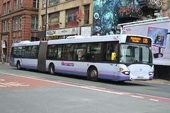 First Scania N94UA 12009.YN05GYG - Manchester (dwb transport photos) Tags: bus manchester first articulated scania bendy omnicity 12009 yn05gyg