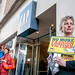 Activists from War on Want in  Exeter gathered outside the Gap clothing store in Exeter to remember the Rana Plaza disaster and to highlight Gap's refusal to sign the trade agreement that would improve conditions for garment factory workers.  In Exeter,