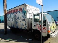 (gordon gekkoh) Tags: sanfrancisco trees truck graffiti hcm ankh nr enron