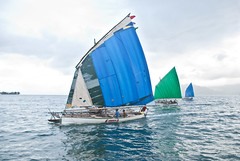 Blue, green and blue (Sven Rudolf Jan) Tags: sailing traditional canoe papuanewguinea alotau canoeandkundufestival