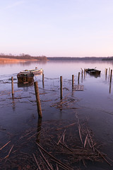 Old fishing boats (Michael Wacker) Tags: winter lake water canon landscape boat fishing hiver lac 5d 24mm paysage barque waterscape pche