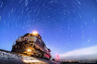 Norfolk Southern 9151 Under Stars
