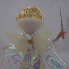 Fairy Godmother 11'' Doll by Mattel - Disney Cinderella Live Action Movie - Amazon Purchase - Deboxed - Standing - Midrange Rear View - Wings and Collar (drj1828) Tags: us amazon doll review cinderella purchase mattel fairygodmother 2015 11inch productinformation deboxed liveactionfilm