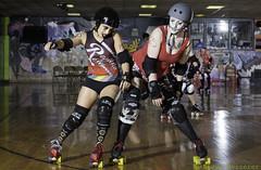 Rainier Roller Girls' Red & Blue Scrimmage - 012915 (Eric Von Flickr) Tags: seattle city girls white women rat track flat skating wheels center skaters skate roller athlete derby wftda