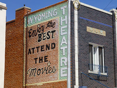 Torrington, WY Wyoming Theater (army.arch) Tags: cinema sign wall theater painted wyoming movietheater torrington wy