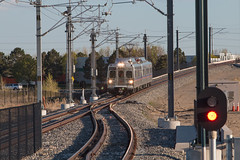 RTD train approaching 40th and Airport (Michael Karlik) Tags: railroad train colorado district denver transportation commuter emu passenger regional catenary rtd