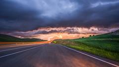 continue the journey..? (drstar.) Tags: road longexposure sky wow nikon flickr nightshot trace journey fields lightning brilliant d610 longdrive flickrturkey
