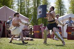 David vs Goliath (powerdook) Tags: old rome big small reenactment weapons gladiator figh moesgaard