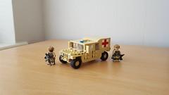 Humvee Medivac (Project Azazel) Tags: pa ba humvee brickarms legohumvee projectazazel