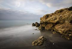 Torrox (J Fuentes) Tags: longexposure sea sky beach water marina flickr save torrox mlaga largaexposicin longexposition