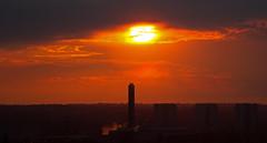 Sun down on industrial scene (ArtGordon1) Tags: uk sunset summer england london silhouette landscape silhouettes davegordon davidgordon artgordon1 daveartgordon daveagordon davidagordon